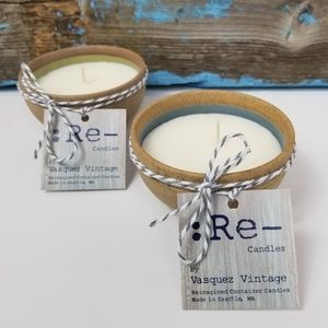Japanese Stone Pottery Scented Soy Candles Set